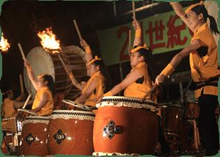 写真:和太鼓の競演3